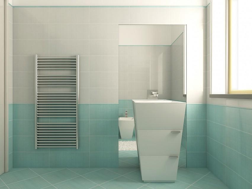 Duesudue - portfolio - rendering - Bagno azzurro